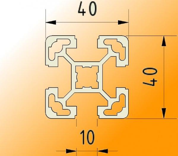 Profil de Montage Facile 40 X 40mm avec Rainure 10 Aluminium Aluprofil Solaire